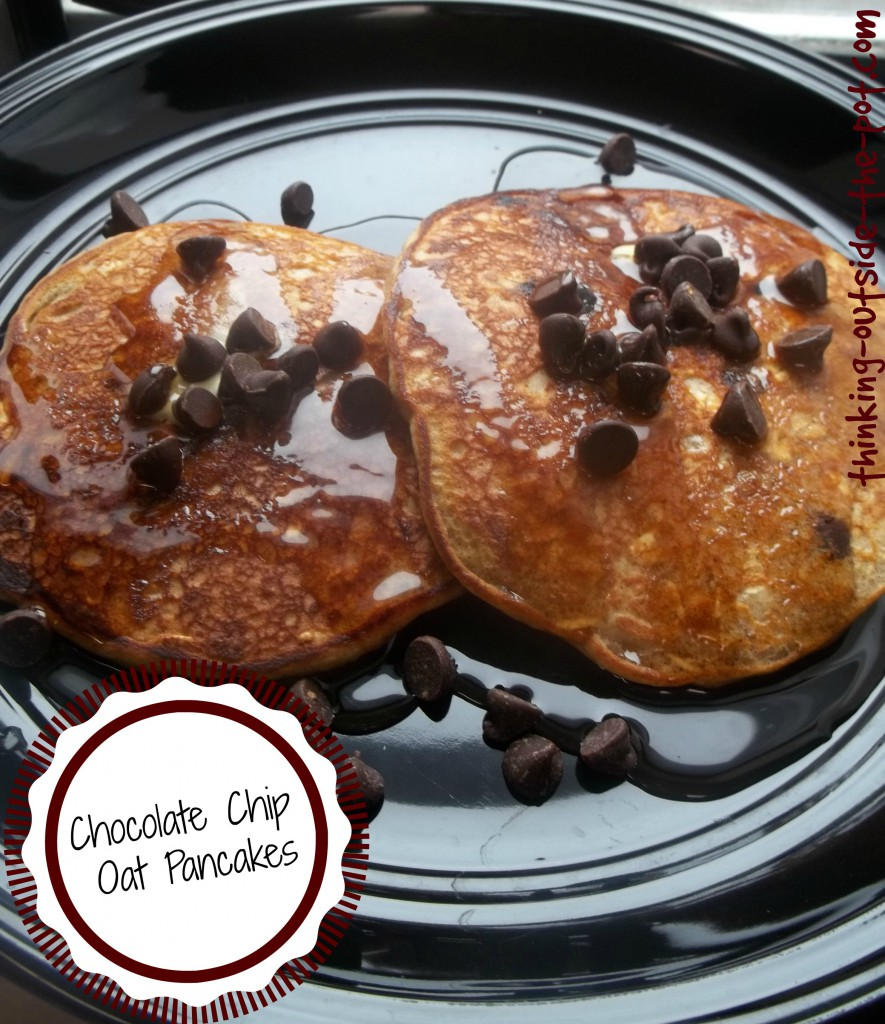 chocolate chip oat pancakes