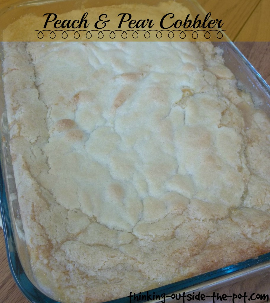 peach & pear Cobbler
