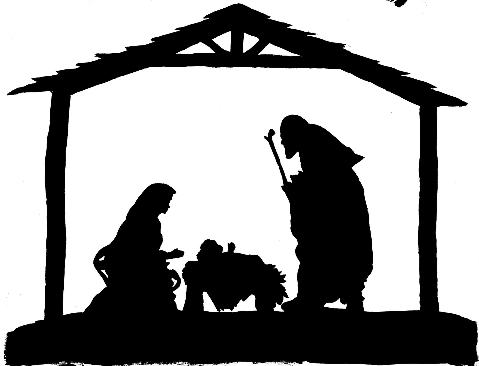 Week 8 skype craft diy christmas nativity thinking for Nativity cut out patterns wood