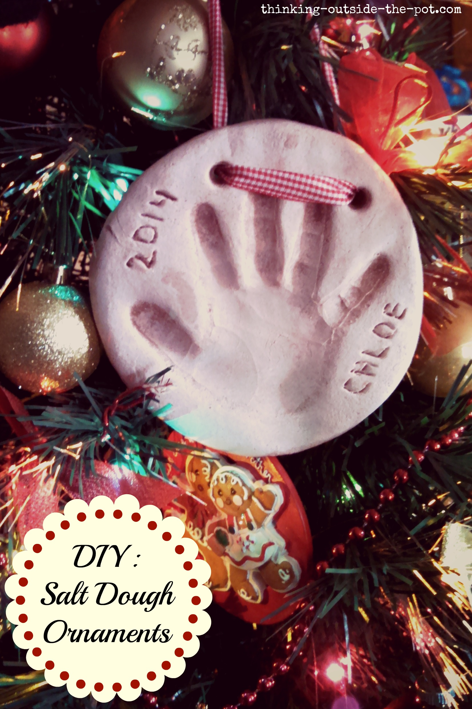 Diy: Salt Dough Ornaments - Thinking Outside The Pot