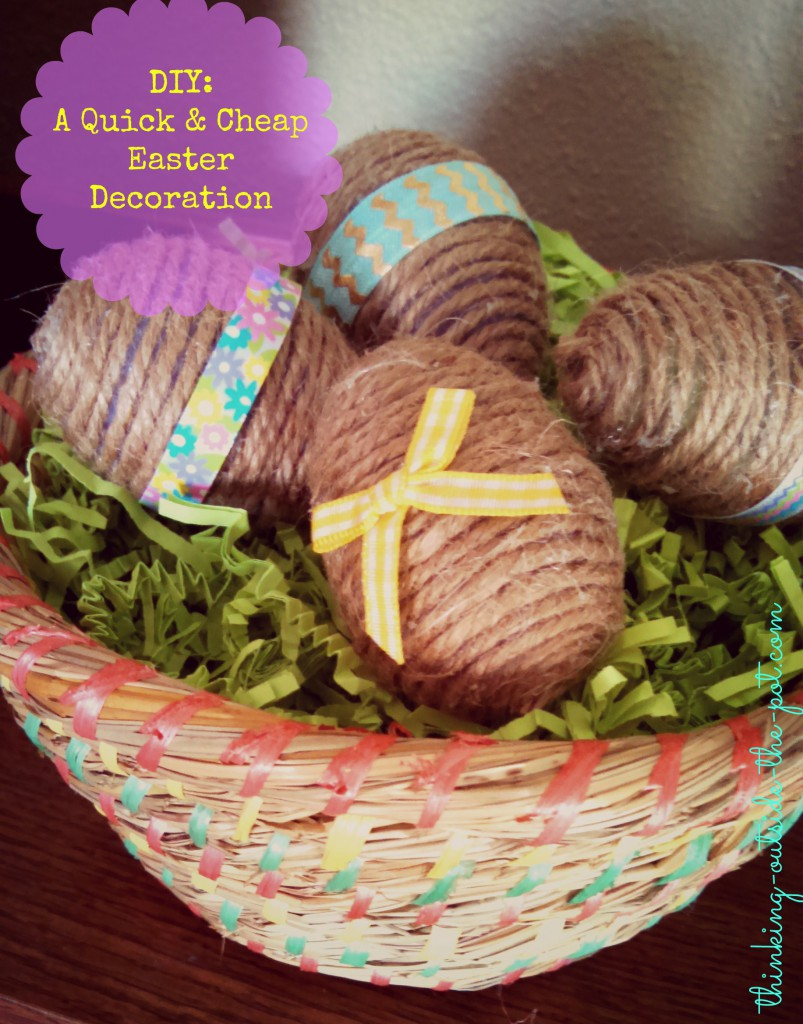 Cheap Spring Decorations: Quick & Cheap Easter Decoration