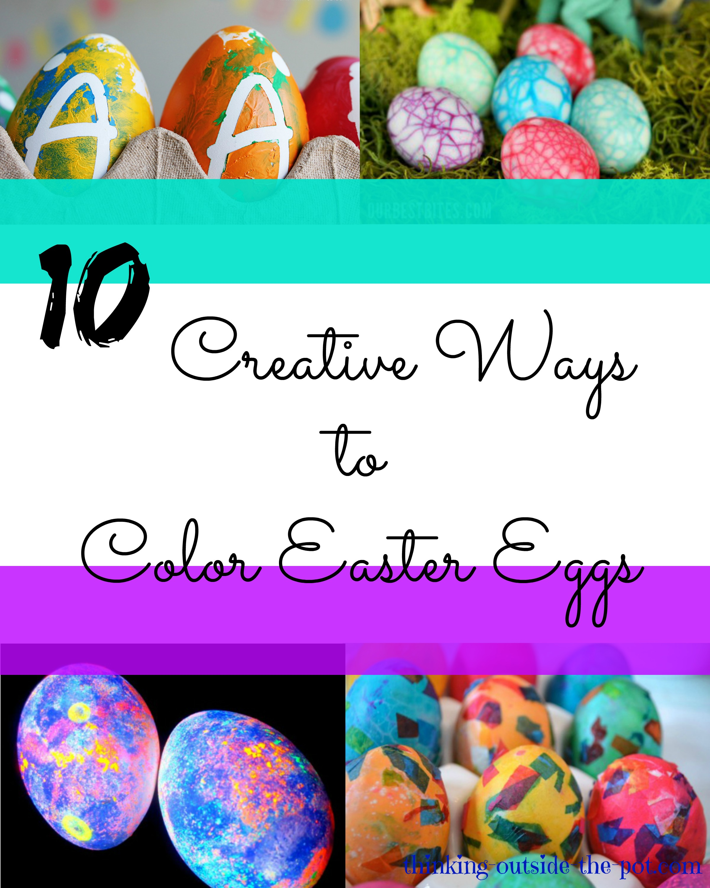 color easter eggs thinking outside the pot