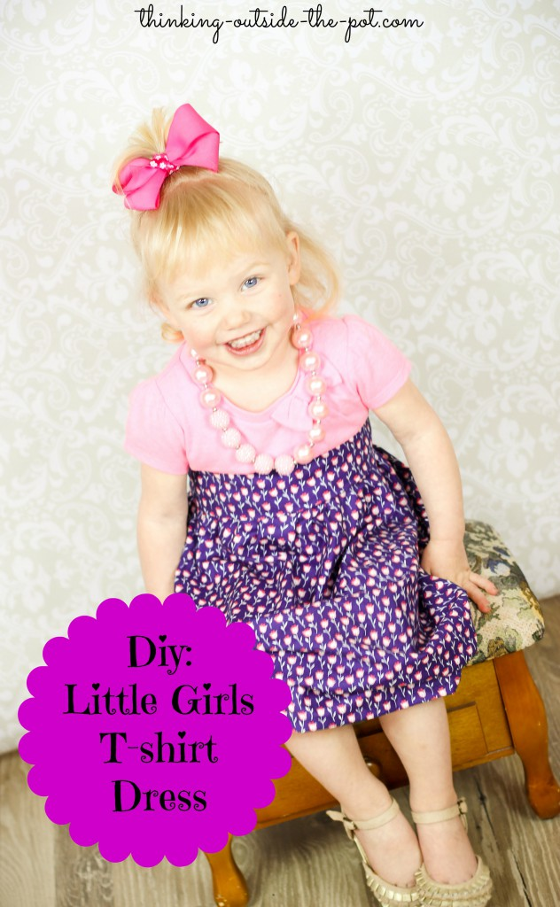 Diy Little Girls t-shirt dress