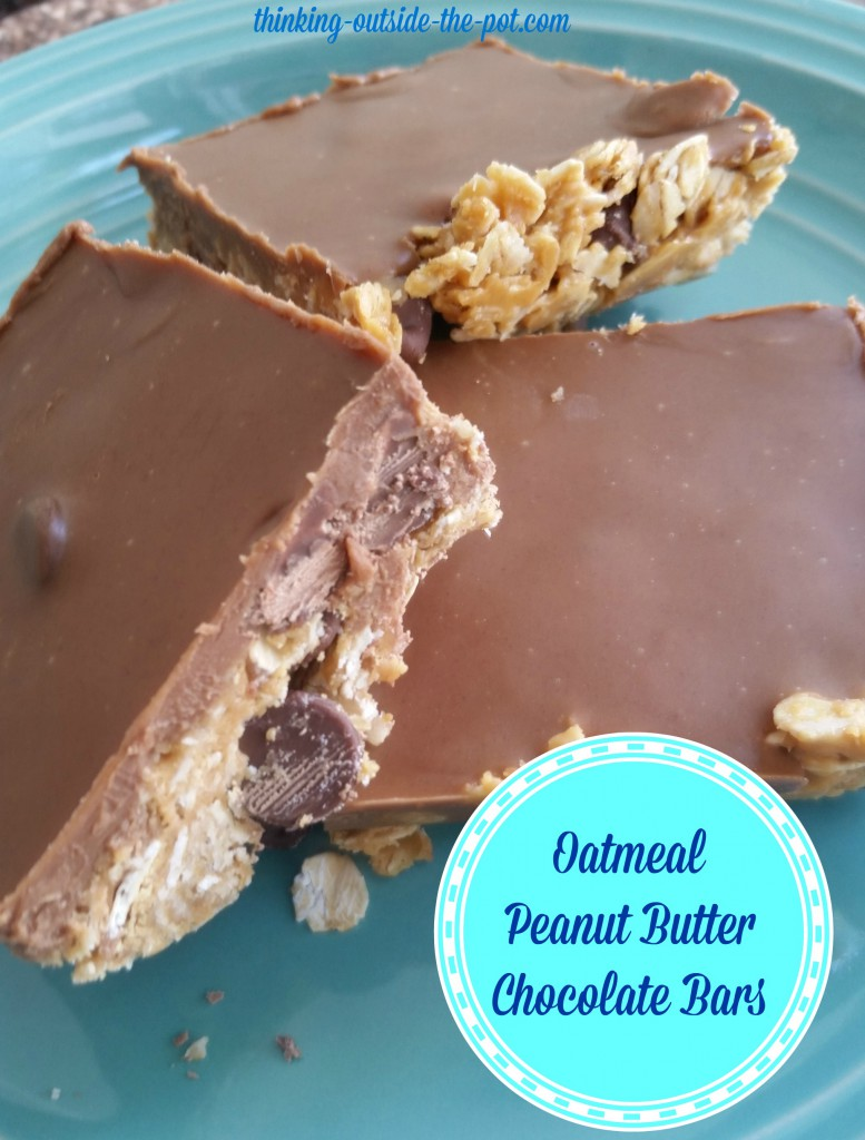 Oatmeal Peanut Butter Chocolate Bars