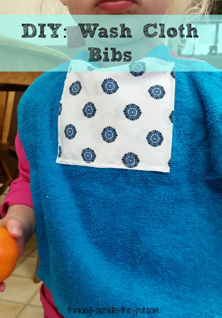 diy wash cloth bibs