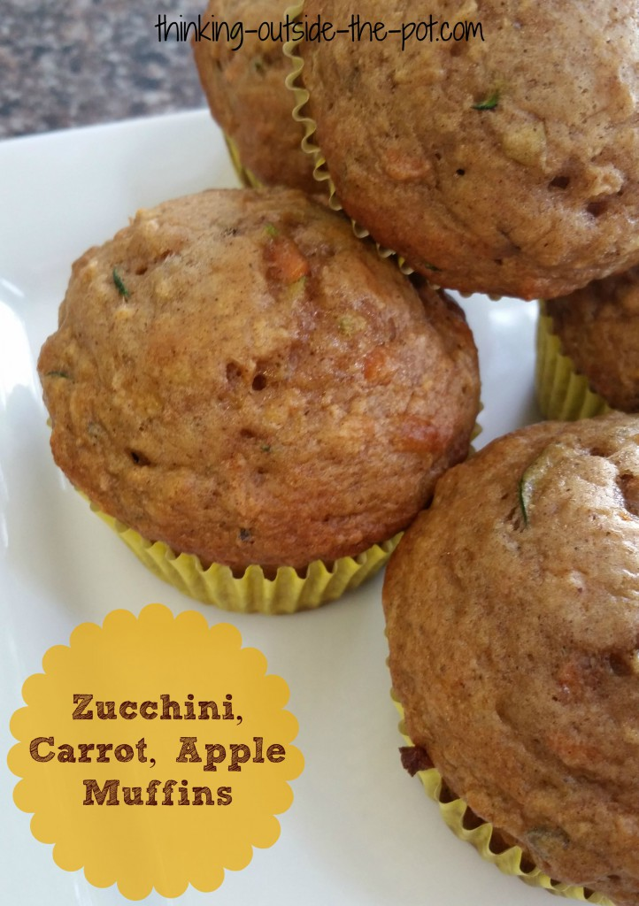 zucchini,carrot,apple muffins