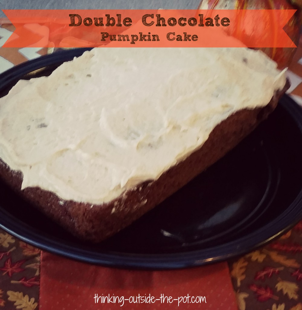 double chocolate pumpkin cake