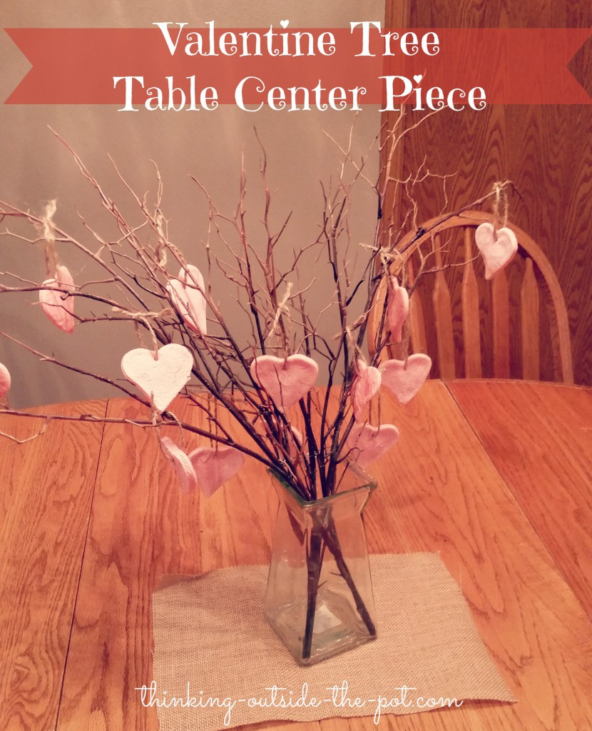 Valentine tree center piece