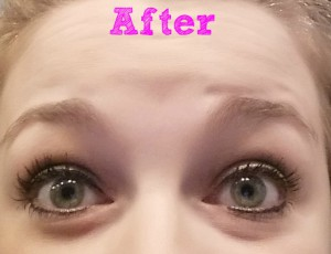 eyelashes after