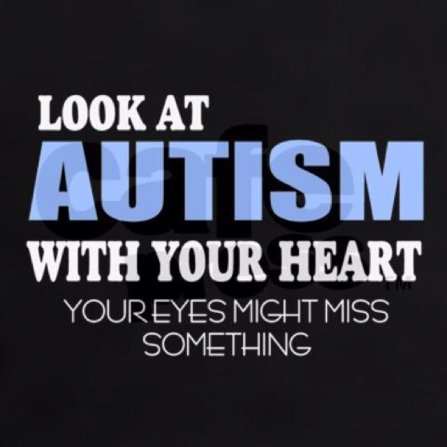 Autism look with your heart