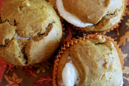 PumpkinCream CheeseMuffins