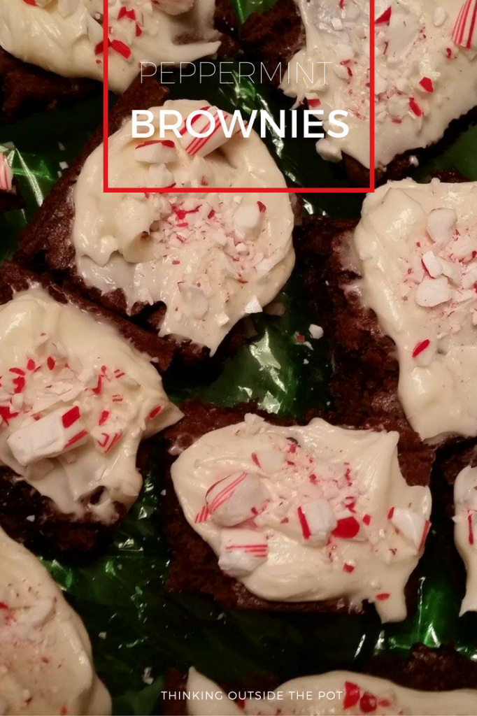 Peppermint Brownies pinnable