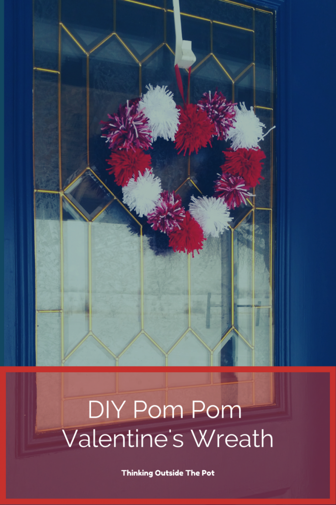 DIY Pom Pom Valentine's Wreath