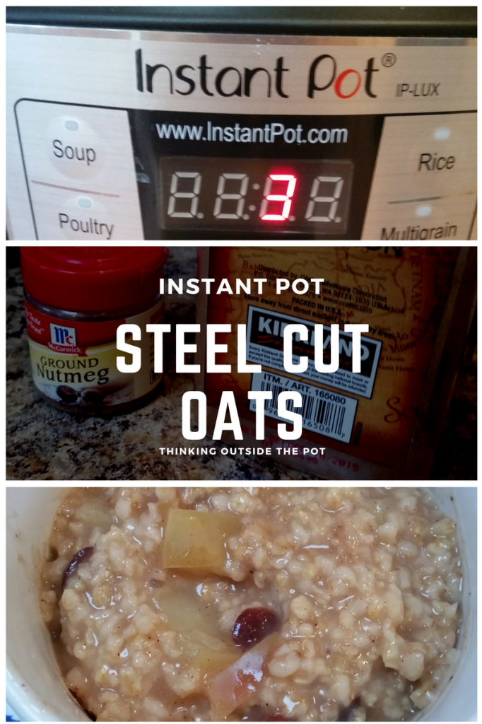 Steel cut oats instant pot