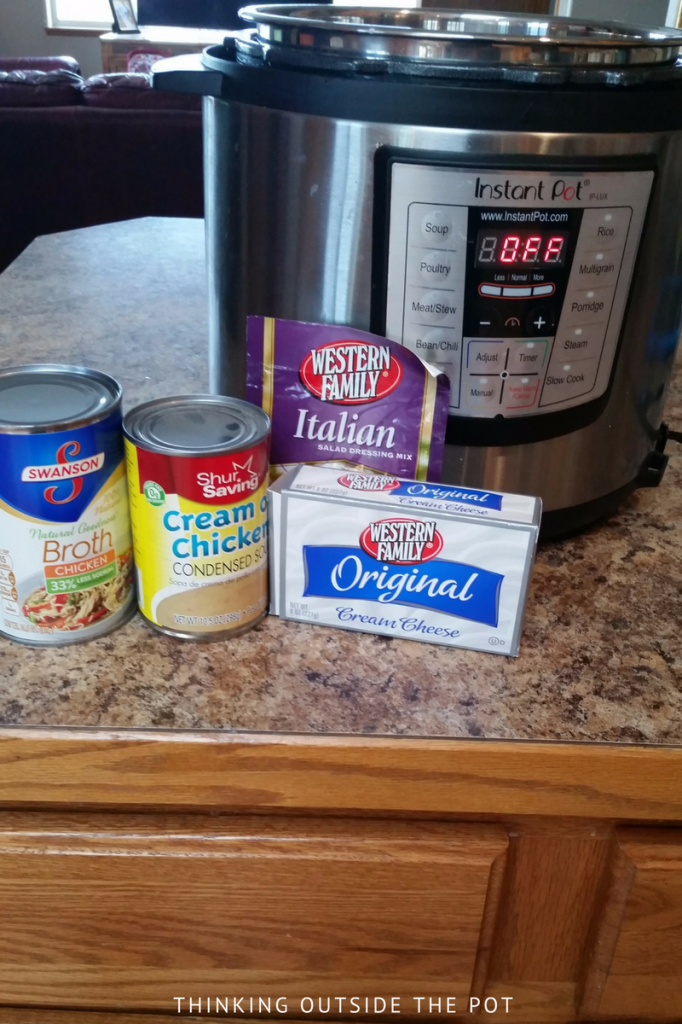 ingredients cream cheese chicken pasta